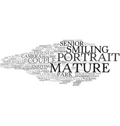 Mature word cloud concept vector