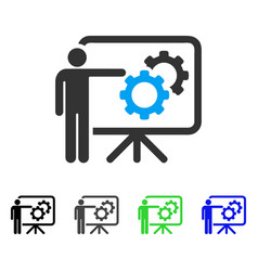 Mechanics report board flat icon vector