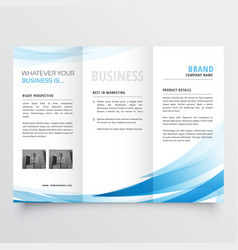 Modern clean trifold leaflet design in size a4 vector