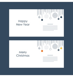 New year christmas card template xmas minimalistic vector