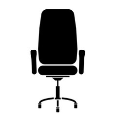 Office chair the black color icon vector