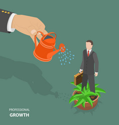professional growth flat isometric low poly vector image vector image