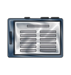 Reading ebook on tablet vector