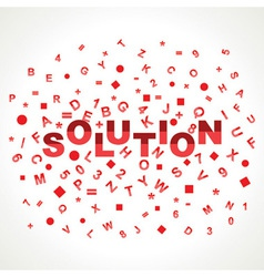 Solution word with in alphabets vector image vector image