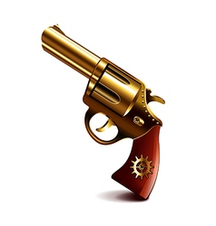 Steampunk gun isolated on white vector image vector image