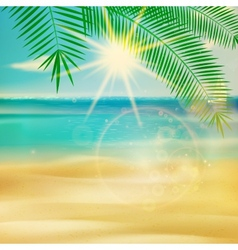Summer beach in retro style vector image