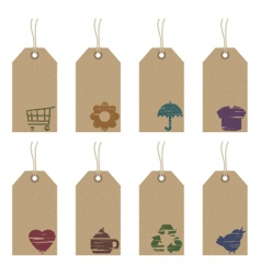 tags with icons vector image vector image
