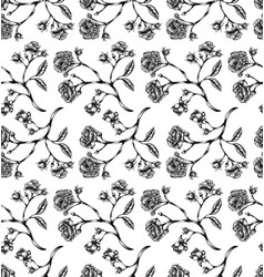 Vintage rose seamless pattern vector