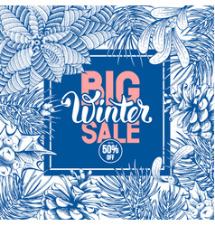 winter sale advertise design vector image vector image