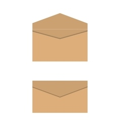 Yellow paper envelopes vector image