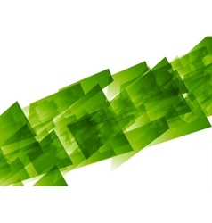 Green concept tech geometric background vector