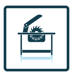 Circular saw icon vector