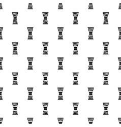 Ethnic drum pattern simple style vector