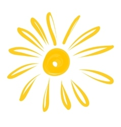 hand drawn sun icon EPS vector image