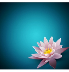 Background with a water lily vector
