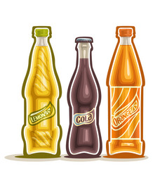 Carbonated drinks vector
