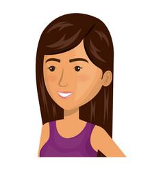 Beautiful and young woman character vector