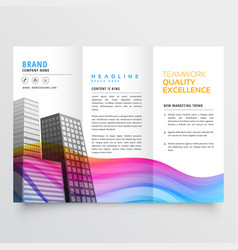 Colorful creative trifold business brochure design vector