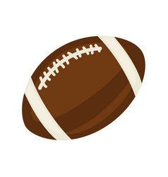 American football ball isolated on white close up vector