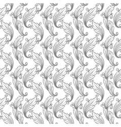 Seamless monochrome pattern damask vector