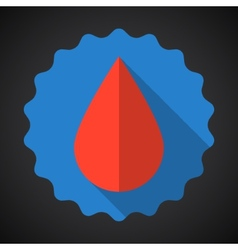 Medical blood drop flat icon vector