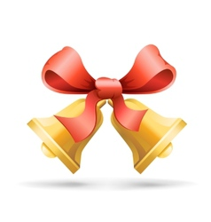 bell and ribbon vector image
