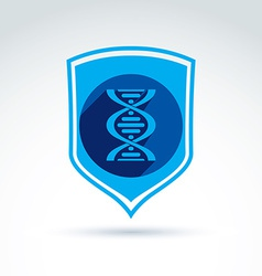 Health and science defending conceptual symbol vector image