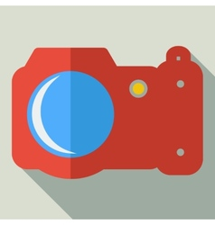 Modern flat design concept icon photo camera vector