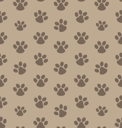 Seamless texture with trace of cat vector