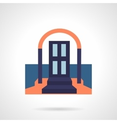 Front door colored flat icon vector