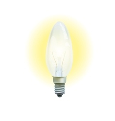 Realistic lit light bulb isolated on white vector