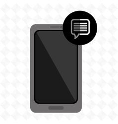 Smartphone services design vector