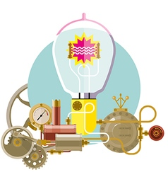 Start up concept steampunk new idea vector