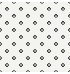 Monochrome abstract seamless floral pattern vector image