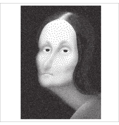 Gioconda halftone portrait vector
