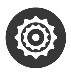 Gear object icon vector