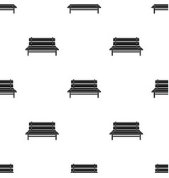 Bench icon in black style isolated on white vector