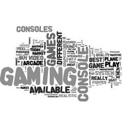 Best video game system text word cloud concept vector