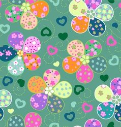 colorful floral seamless background vector image vector image