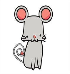 Cute Mouse Cartoon eps10 vector image vector image