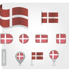 Denmark flag icon vector