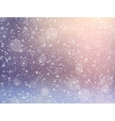 Falling snow effect Winter festive background vector image