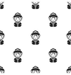 Fireman black icon for web and vector