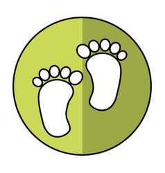 Foot print baby isolated icon vector