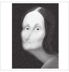 Gioconda halftone portrait vector