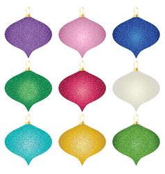 Glitter effect ornaments vector
