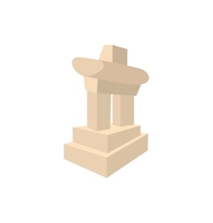 Inukshuk in canada icon cartoon style vector