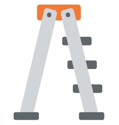 Metallic step ladder vector image