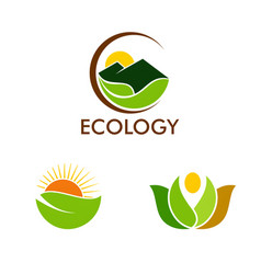 nature ecology logos vector image