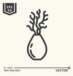 one icon - decorative vase vector image vector image